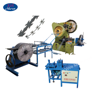 BTO,CBT Blade Type Automatic razor barbed wire making machine/razor blade making Concertina razor security wire machine